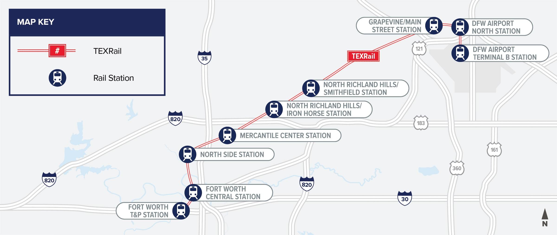 TEXRail Map